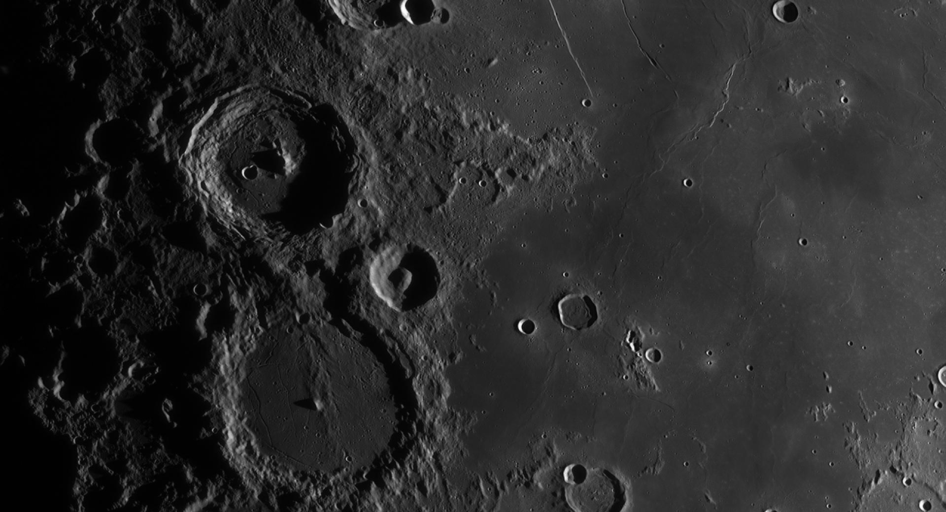 Evening in the Ptolemaeus chain and Rupes Recta region Jordi Delpeix Borrell RU